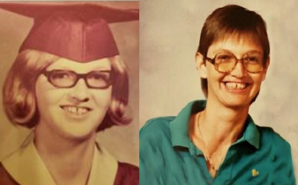 Audrey Lee Cook in 1973 and mid'1980s. (Source: League City Police Department)
