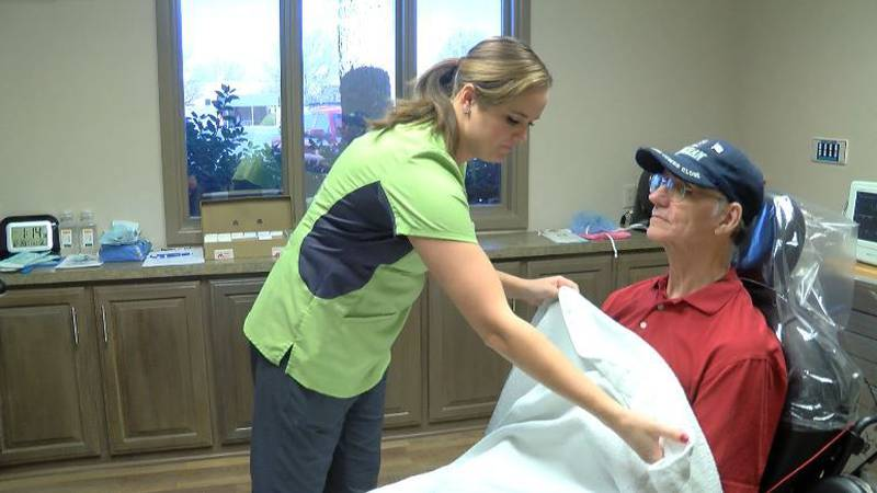 Air Force veteran Charles Martin was the first to undergo a Smile for Soldiers procedure...