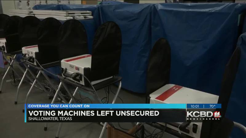 Voting machines found unsecured in Shallowater