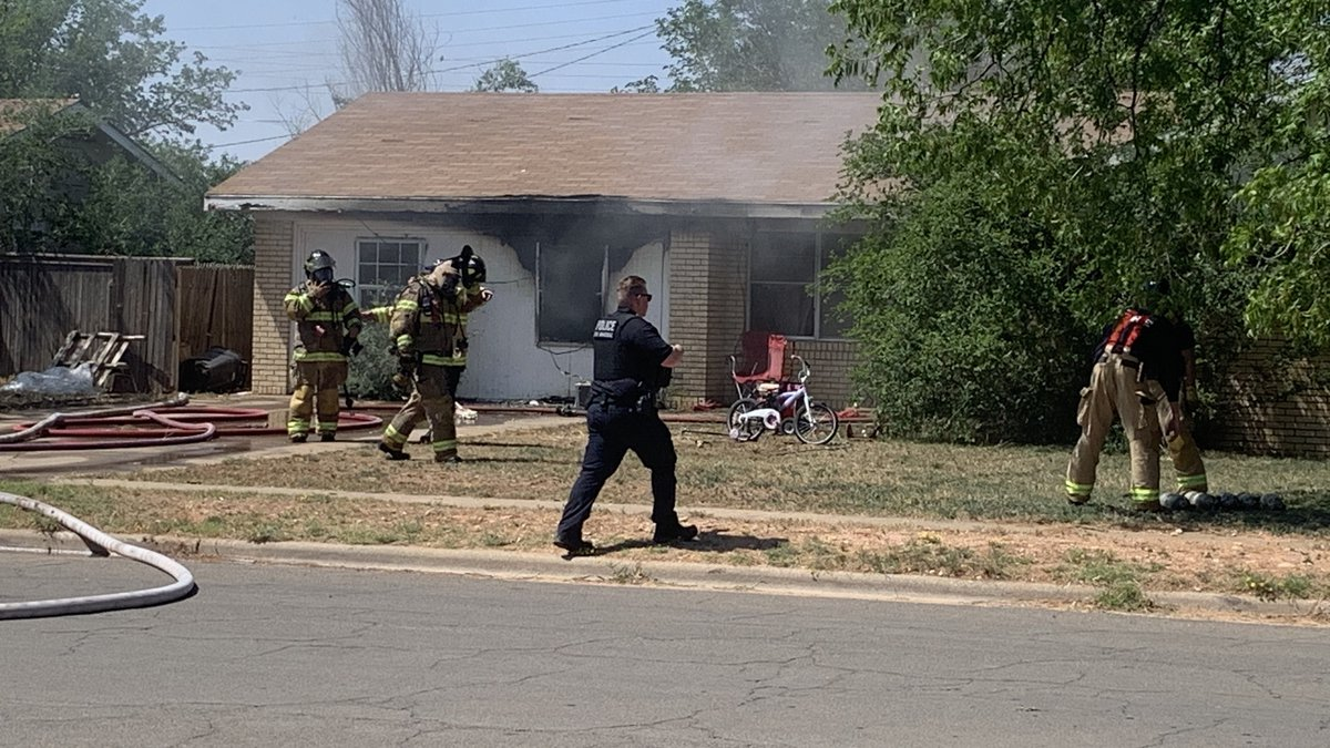 Home damaged in afternoon fire in the 900 block of Adrian St. on May 12, 2021