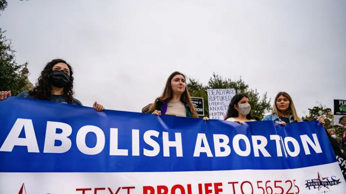 Protesters demonstrate against abortion at the Texas Rally for Life on Jan. 23, 2021, at the...