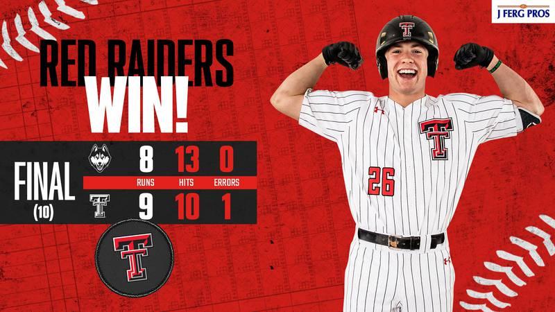 Texas Tech Baseball defeats UConn