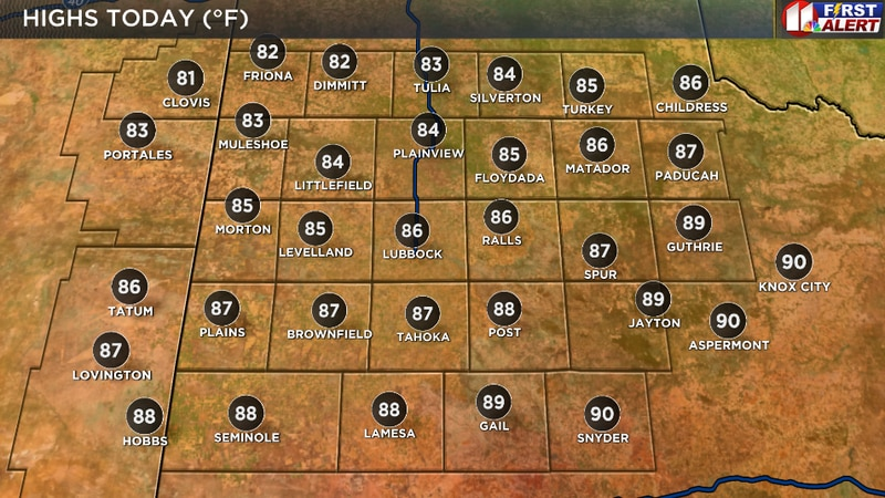 Few thin, high clouds but otherwise sunny, breezy, and very warm this afternoon.