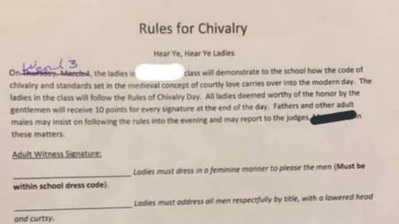 Shallowater Independent School District has announced a school assignment telling female...
