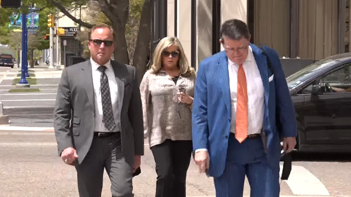 Bart Reagor arrives at Amarillo federal courthouse on April 26, 2021.