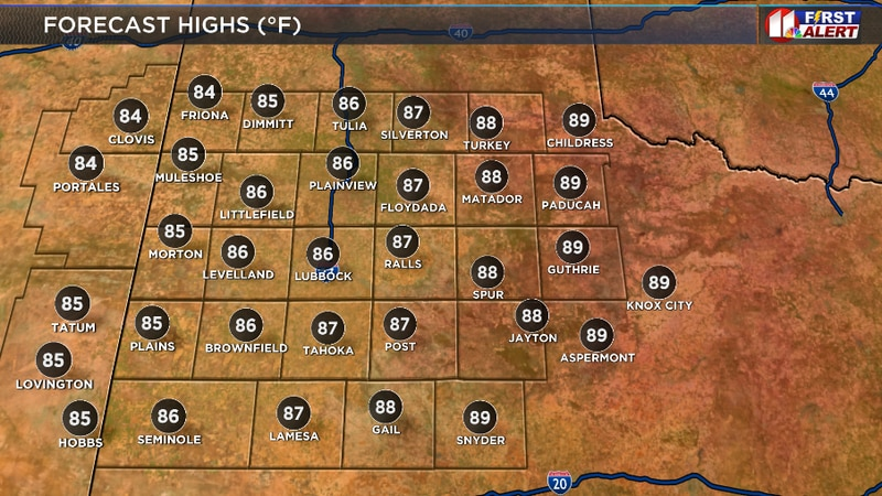 Mostly sunny, warm, and breezy this afternoon