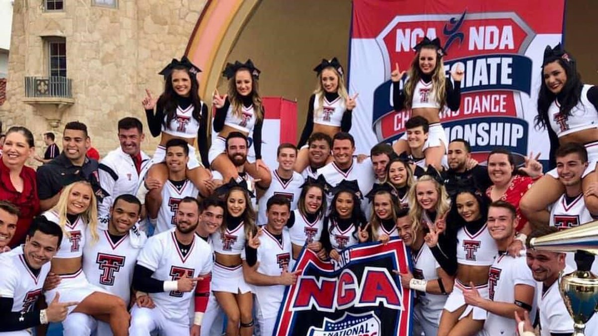 Texas Tech Cheer and Pom Squads, National Champions 2019 (Source: Texas Tech Athletics)