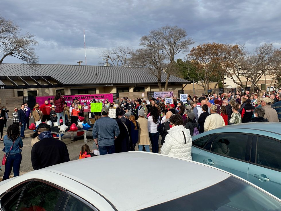 Hundreds of people gathered in Lubbock on Friday afternoon to March for Life, while others...