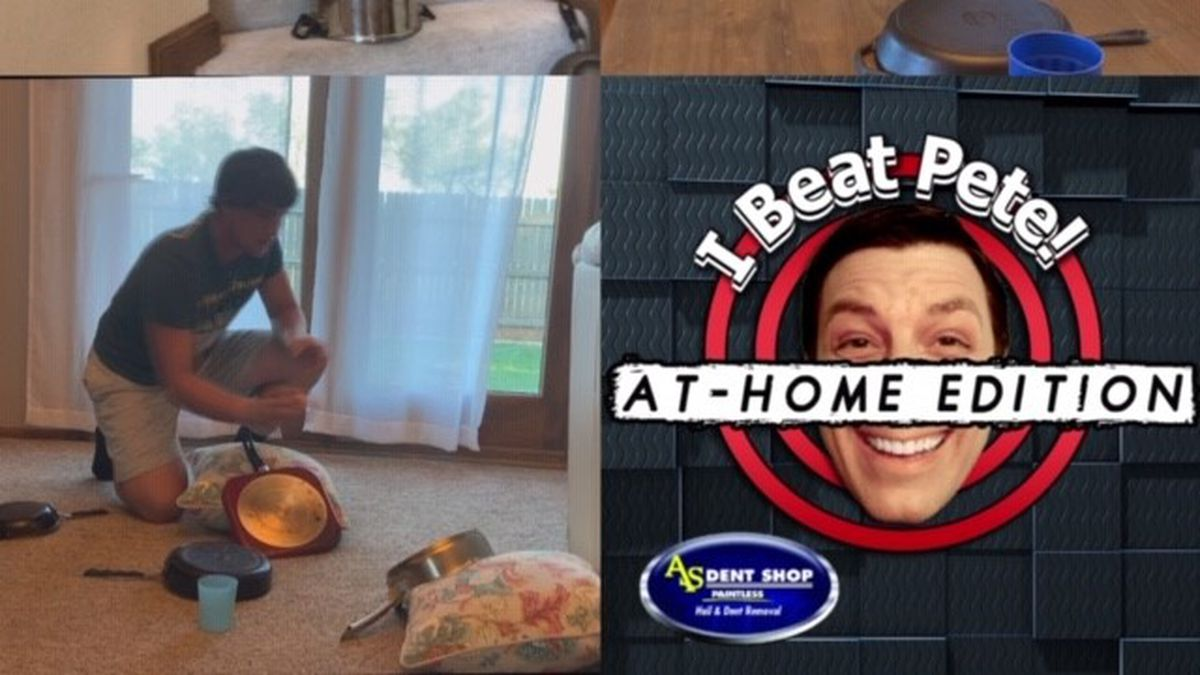 This week from our homes, we did the Pots and Pans Ping Pong Challenge.