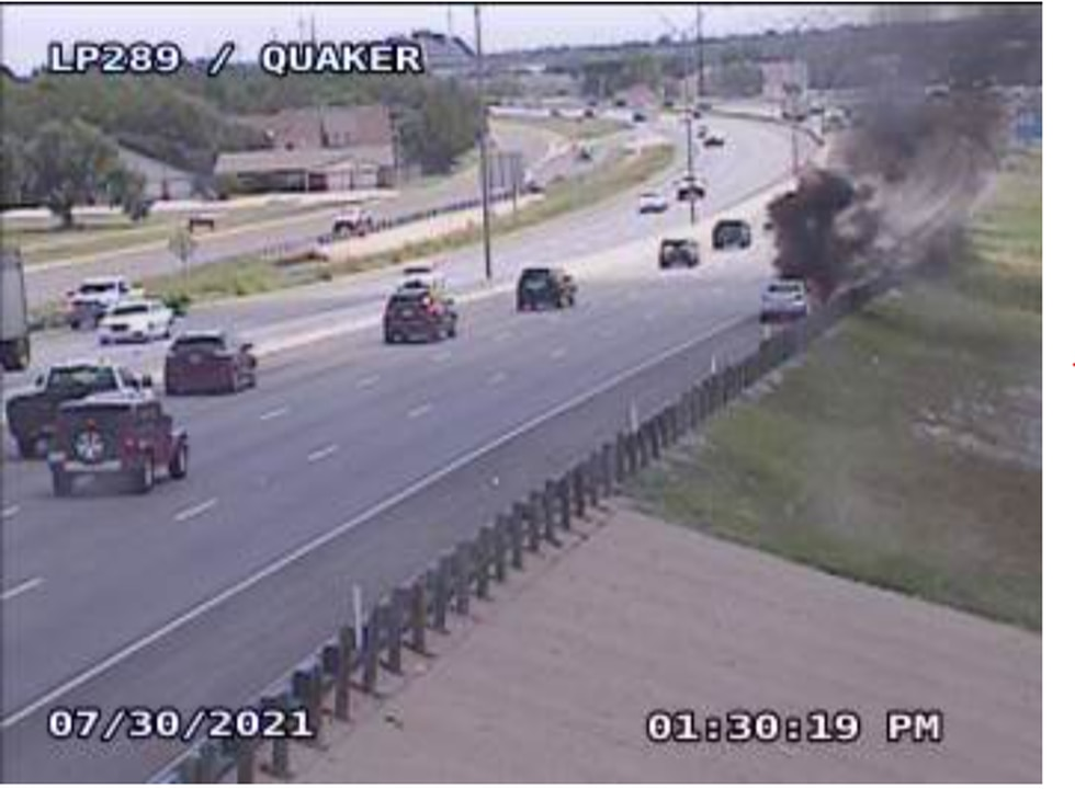Car Fire South Loop and Quaker