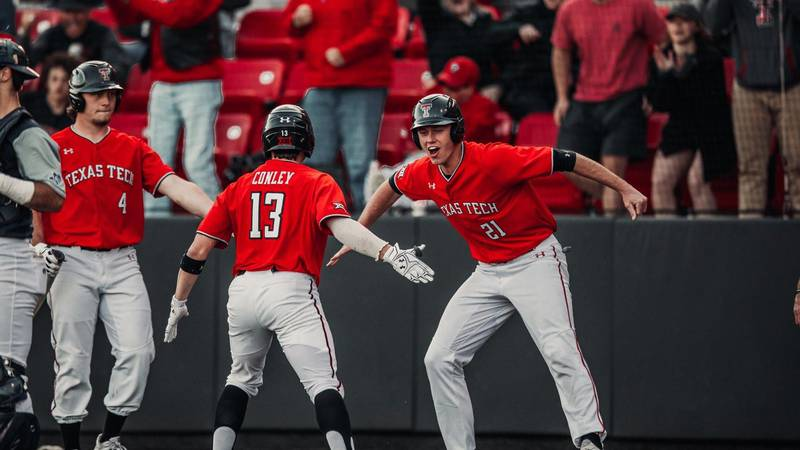 No. 2 Texas Tech baseball stormed back from an 8-1 deficit to secure the series win over Rice...