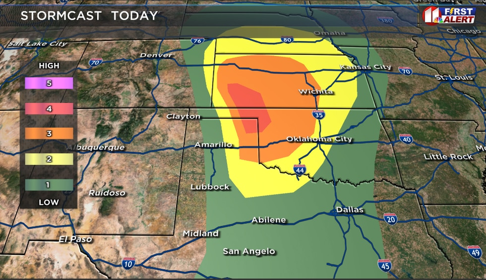 This is the severe weather risk for Tuesday, Oct. 12, 2021.