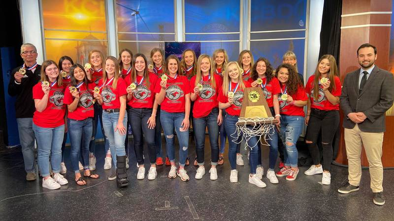 On Saturday down in San Antonio, the Shallowater Fillies beat Woodville 61-43 to win the 3A UIL...