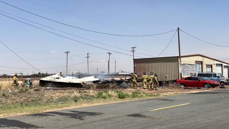 Lubbock Fire Rescue is battling a structure fire at North Slide Road and Clovis Highway, near...