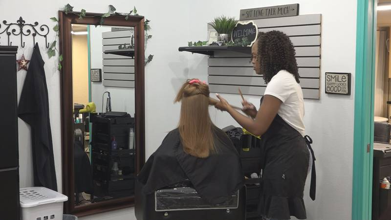 After the June storm caused more than $10 million in damage in Lamesa, one salon owner is...