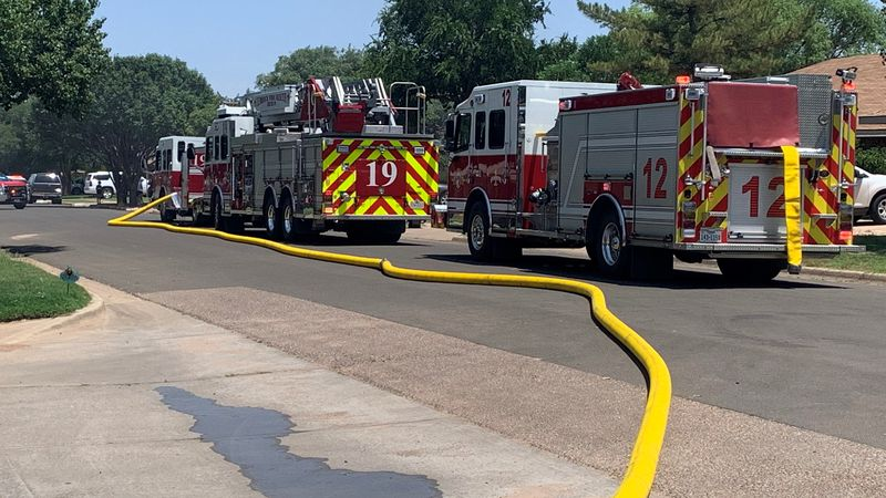 Lubbock Fire Rescue is on the scene of a house fire in the 5500 block of 90th Street.