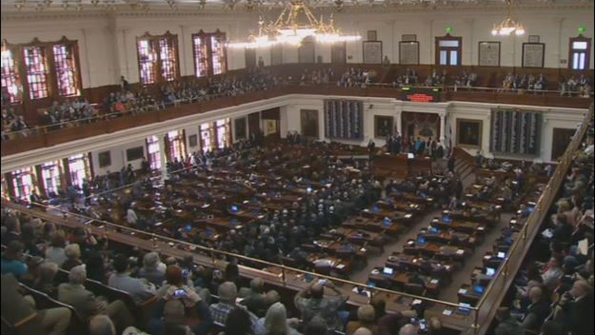 Texas Gov. Gregg Abbott gave his State of the State address in the House Chamber of the Texas...