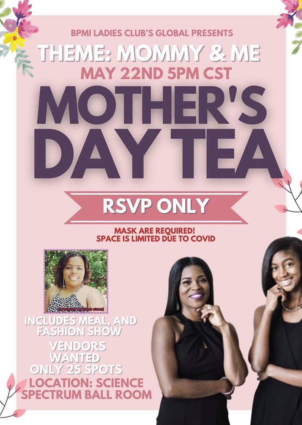 BPMI Ladies Club Global to host Mother's Day Tea at the Science Spectrum Saturday, May 22.