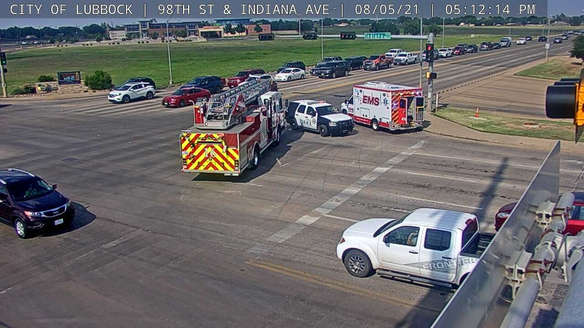The motorcycle rider has moderate injuries after a crash at 98th and Indiana on August 5, 2021