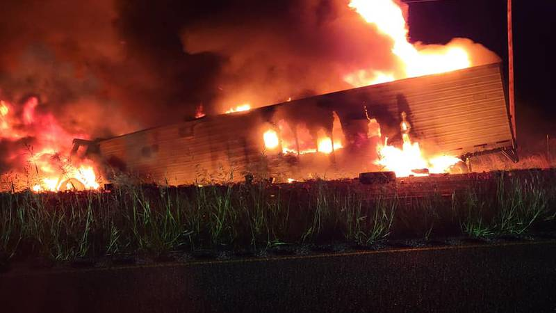 Semi crash in Scurry County