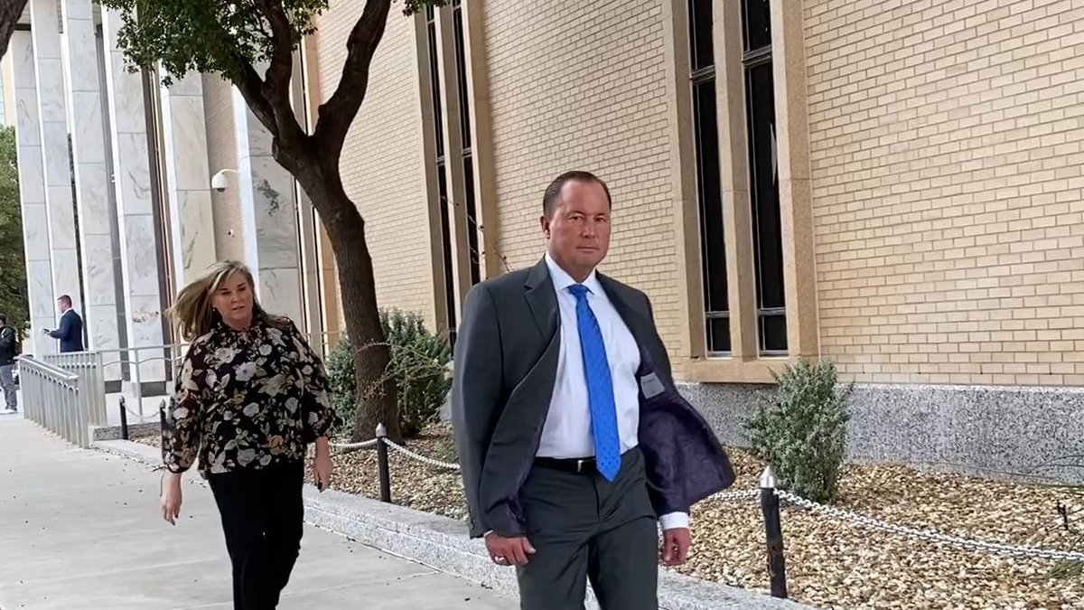 Bart and Annette Reagor leaving the Federal Courthouse in Lubbock