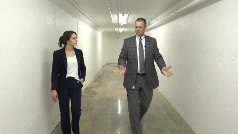 Three months ago this tunnel that connects two downtown city buildings flooded, leading to...