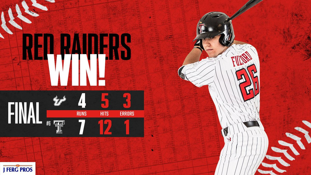 Texas Tech baseball swept their series against the University of South Florida with a 7-4 win...