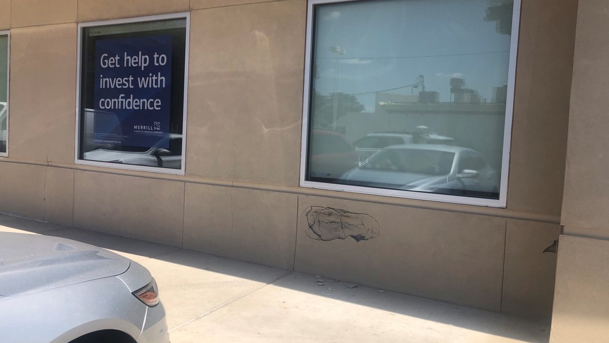 Employees say it's going to cost $30,000 to repair damage to the Bank of America location at...