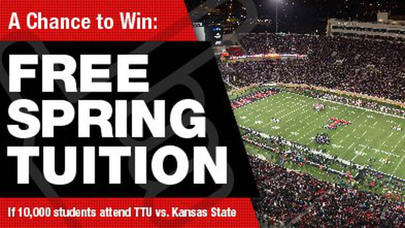 Free spring tuition at Texas Tech.