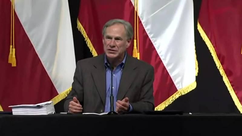 Texas Gov. Greg Abbott promised to continue building former President Donald Trump's border...