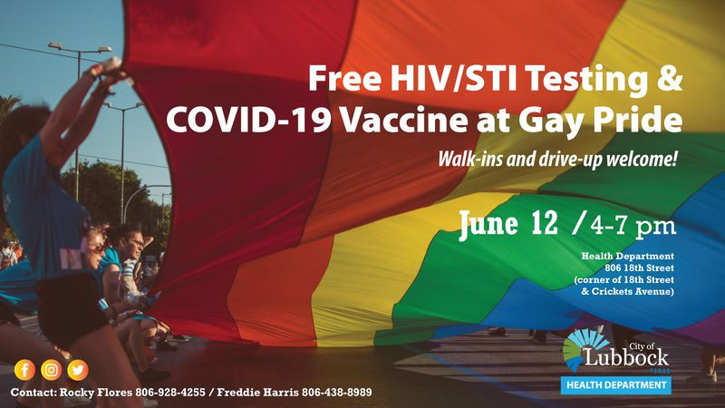 The City of Lubbock Public Health Department's Street Outreach Group will offer free HIV and...