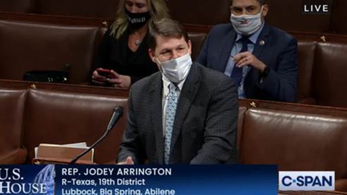 """Rep. Jodey Arrington: """"Madame Speaker, I rise with great sorrow to oppose this second attempt..."""