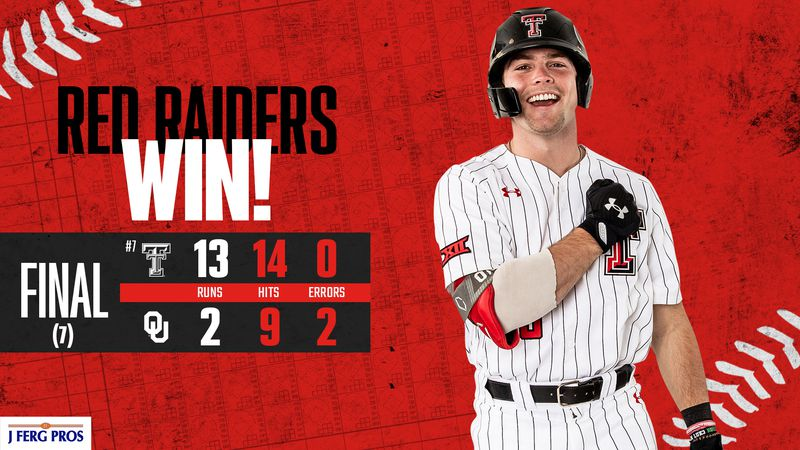 In game three of Texas Tech's baseball series on the road at Oklahoma, the Red Raiders...