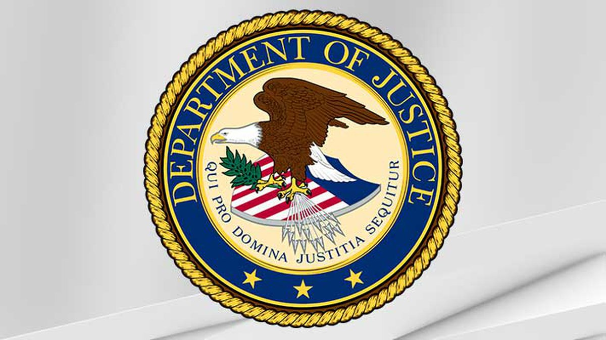 Seal of the United States Department of Justice.