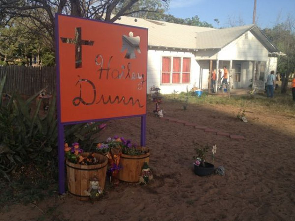 Friends and family gathered at Hailey Dunn's household after the announcement.