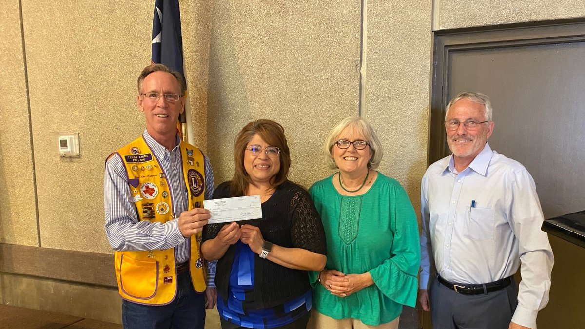 Catholic Charities of Lubbock received $7,500 from Lubbock Lions Club recently to help those in...