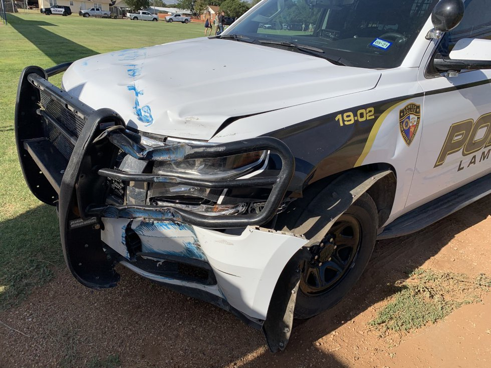 The stolen vehicle went into a grassy area just south of the high school and made a loop and...