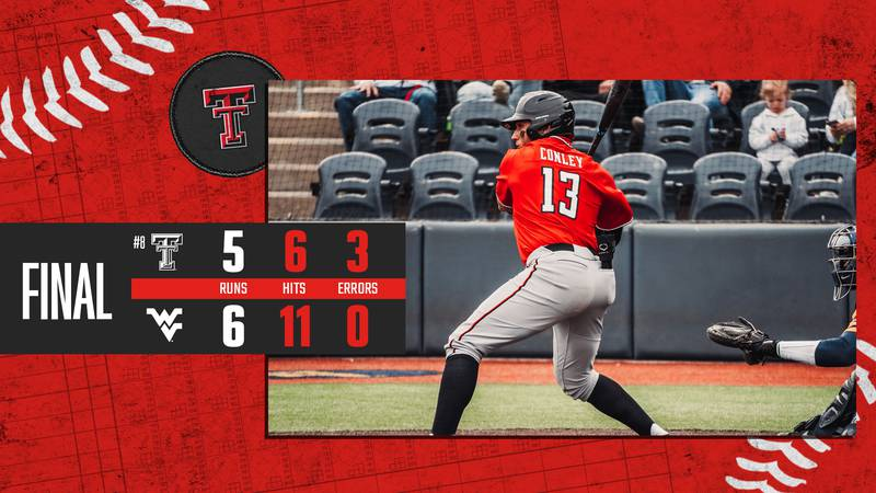 Texas Tech baseball dropped game two of their series on the road at West Virginia 6-5.