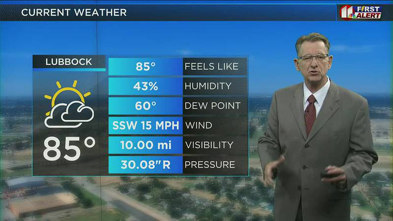 KCBD Midday Weather Update: Above average highs this week