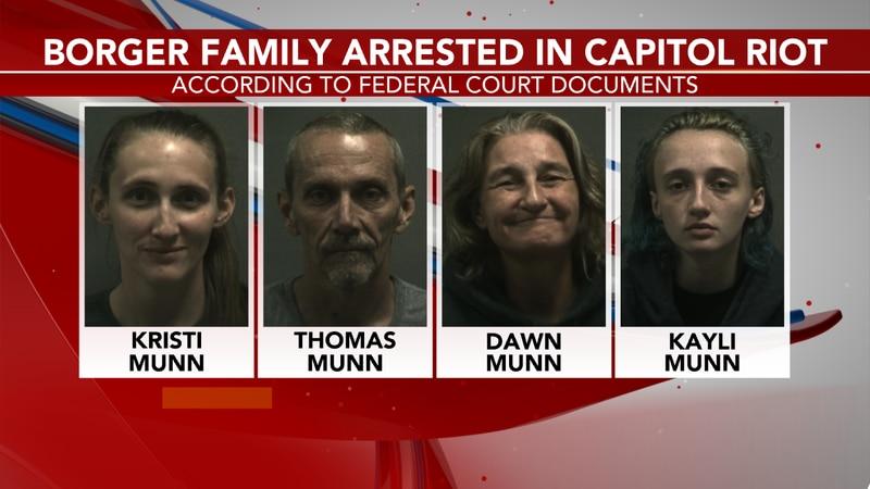 U.S. Capitol Munn family arrested