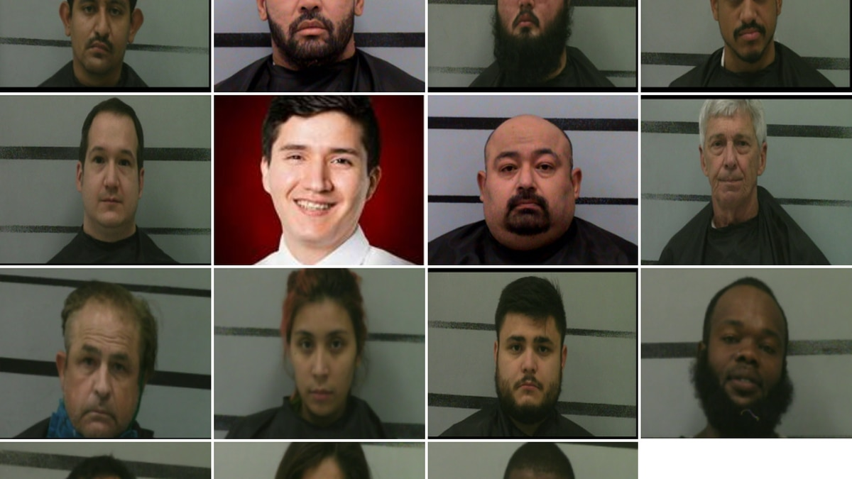 Lubbock police released this photo of suspects arrested during a recent prostitution sting...