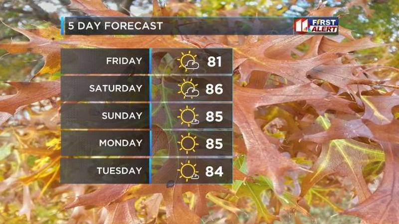 Chilly morning to start with warmer temperatures coming