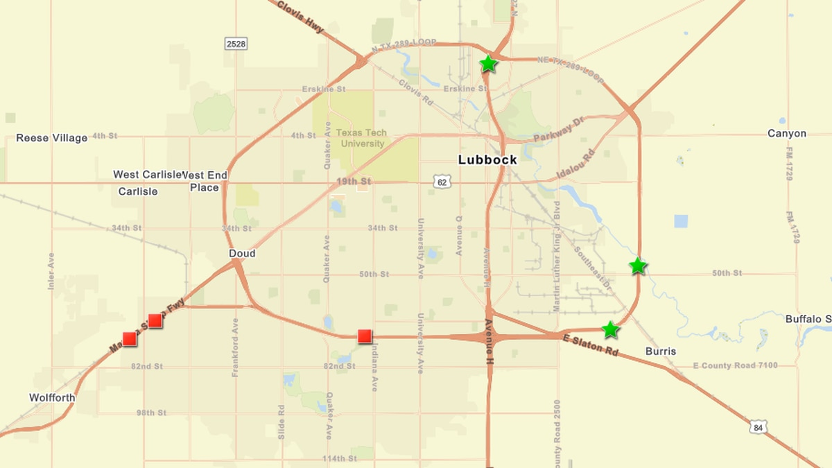 A map shows a series of crashes that have cause traffic to be diverted on major roadways on...