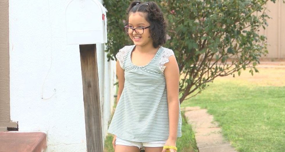 Elizeth was able to ring the bell at UMC when she learned she was in remission from Leukemia.