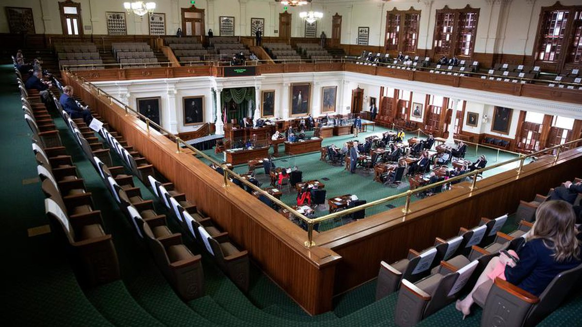 Opening day at the Texas Senate 2021