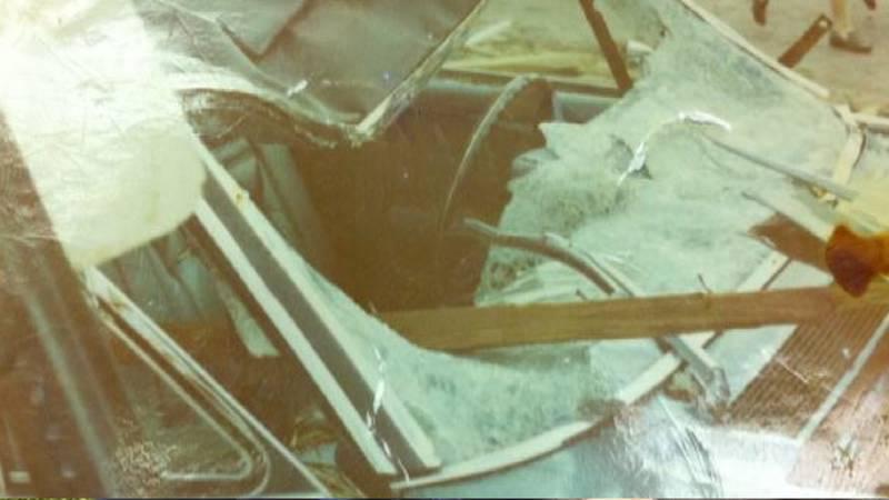 CAR DESTROYED BY 1970 TORNADO