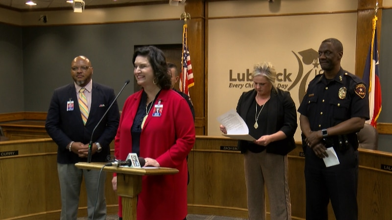 Lubbock ISD hosted a joint press conference with the Lubbock Police Department and the Lubbock...