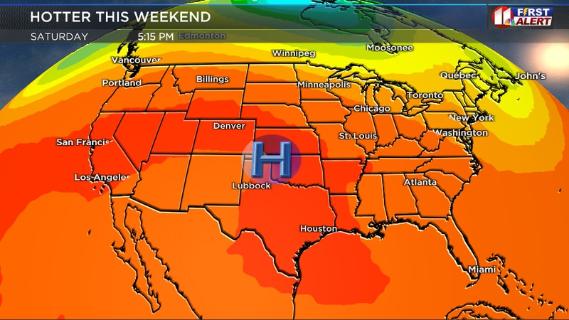 High pressure aloft will build into the region this weekend.