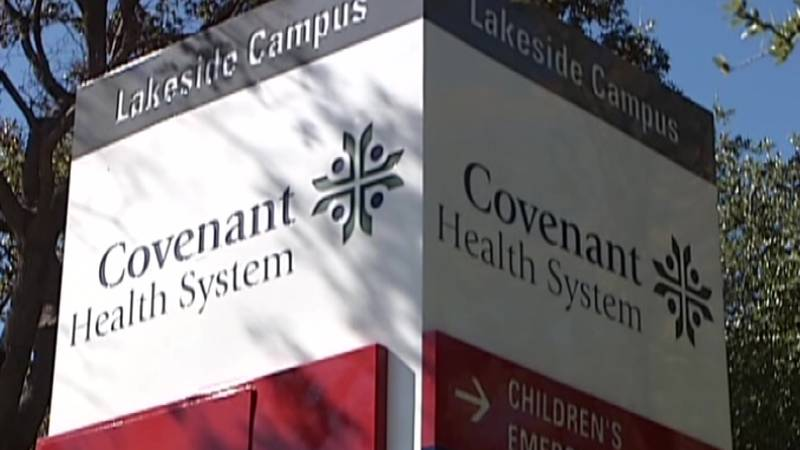 Covenant Health System Sign (Source: KCBD Video)
