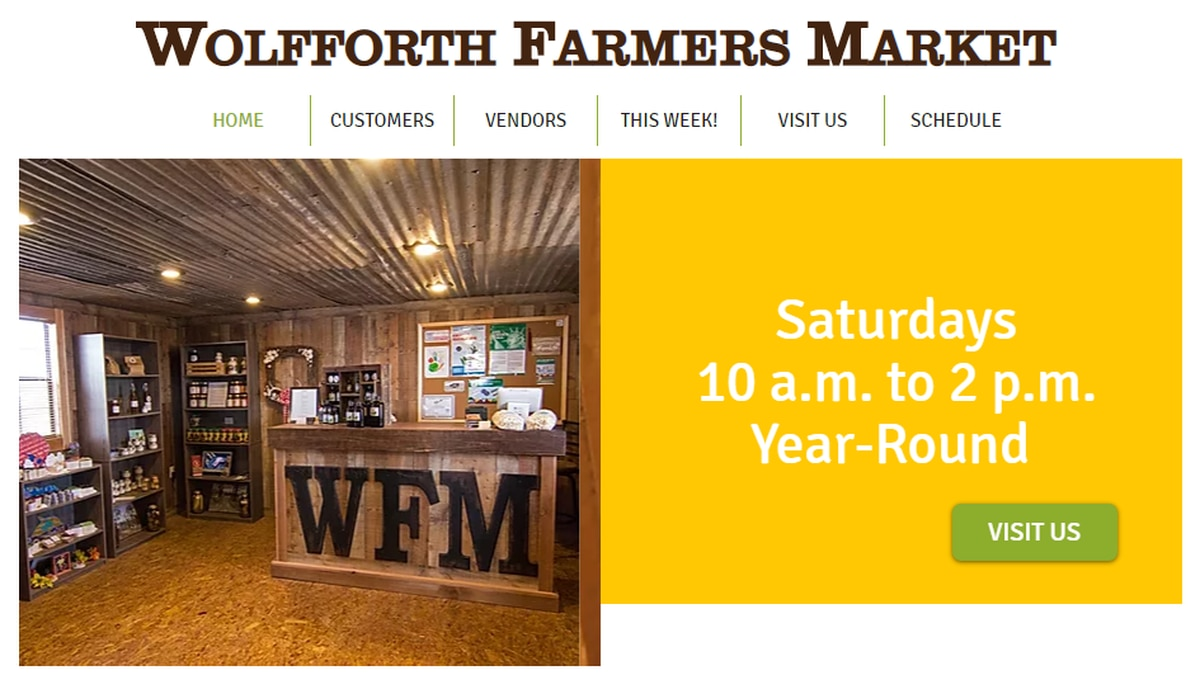 The Wolfforth Farmers Market takes place every Saturday from 10 a.m. to 2 p.m.